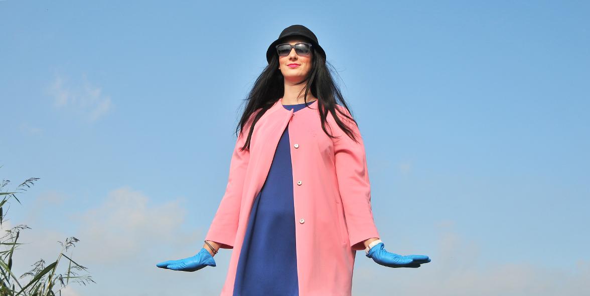 pink coat uitgelicht