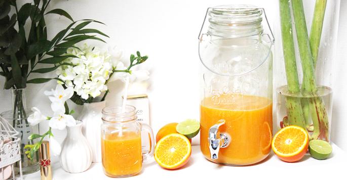 Xenos sap kan met kraan Mason jar look-a-like goedkoop budget sapjes, limonade leuk voor de zomer inspiratie review foto
