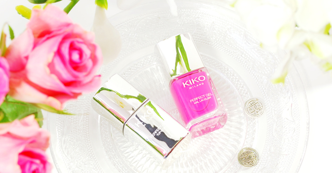 KIKO milano review perfect gell duo nail laquer set de vernis 674 fuchsia swatch nails blog lifestyle by linda