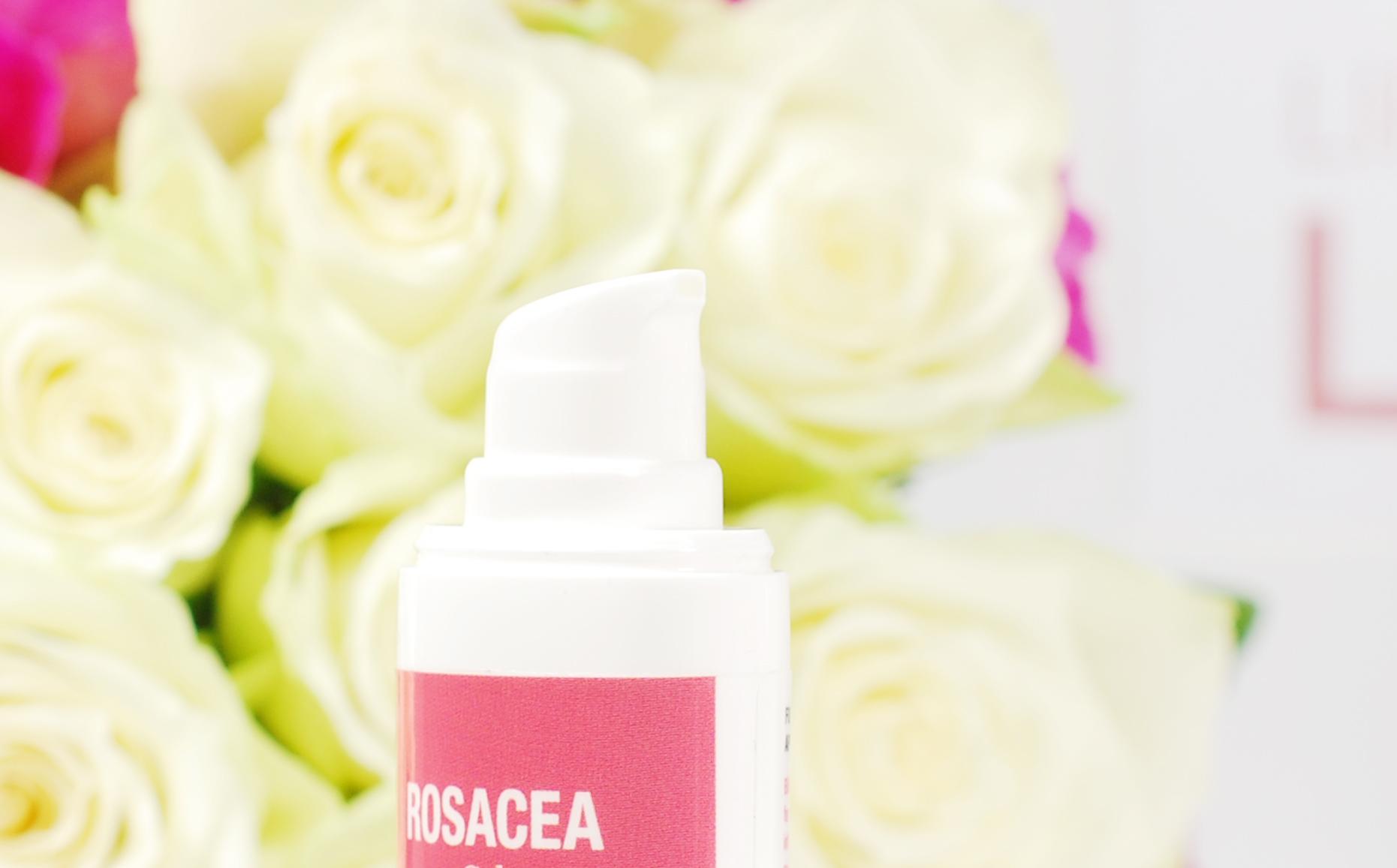 Rosacea gel hypoallergeen dermatologisch getest Glad skin bacterial skin balance probleem huid rood heden plekjes review lifestyle by linda skin care