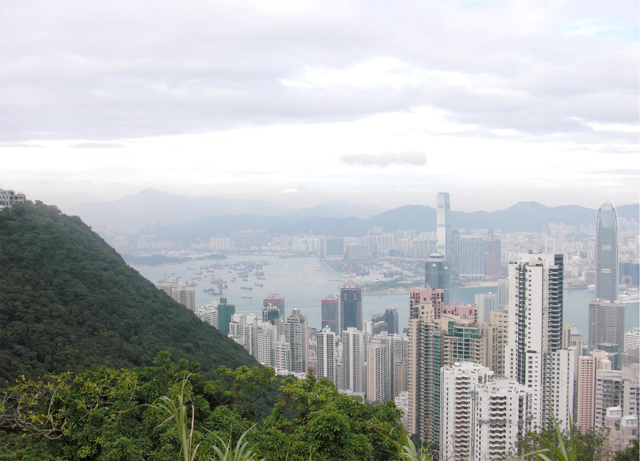 Hong Kong azië China The Peak View Hong Kong city travel reis reizen lifestyle by linda De piek