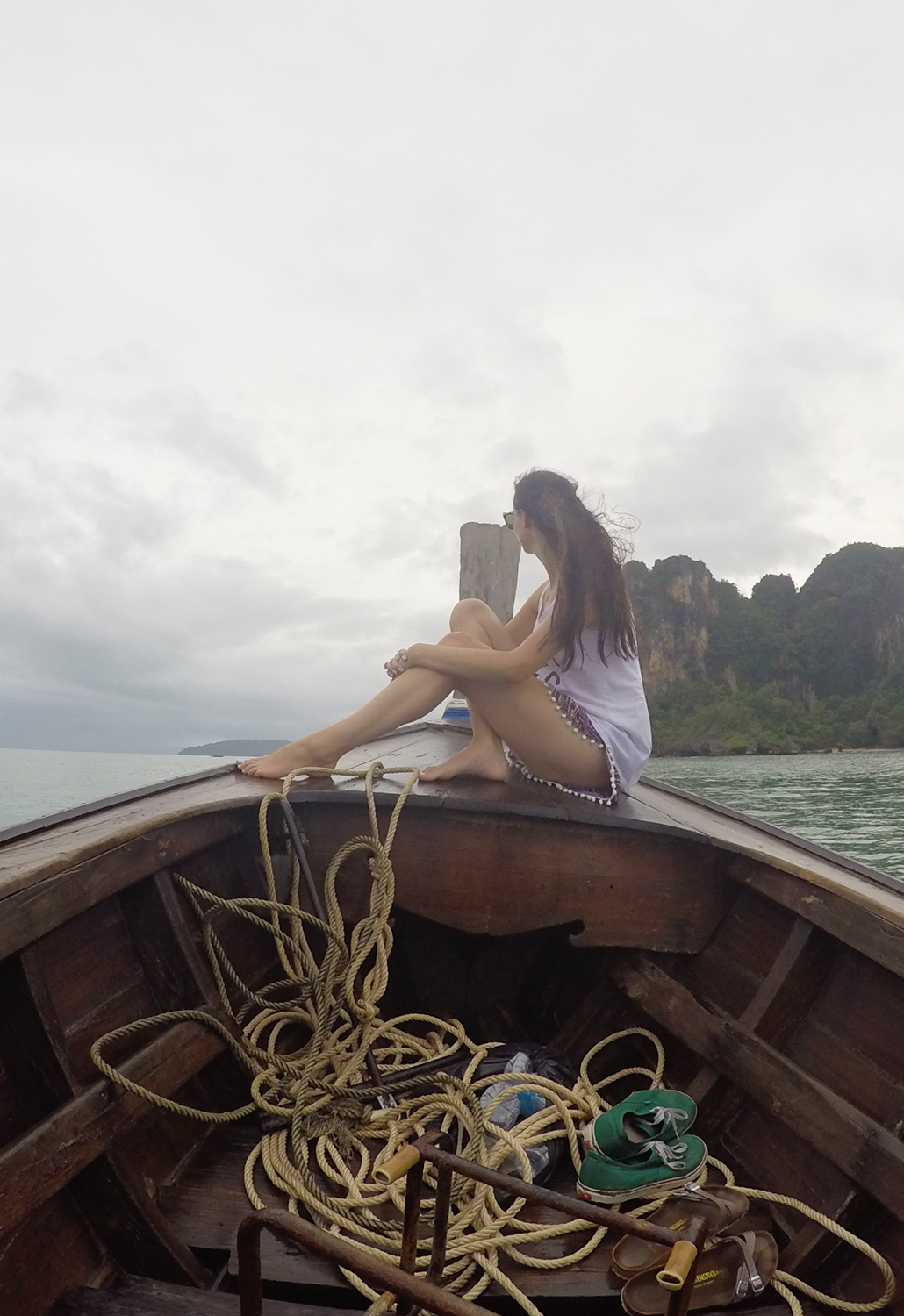 Railay Beach lontgtailboat