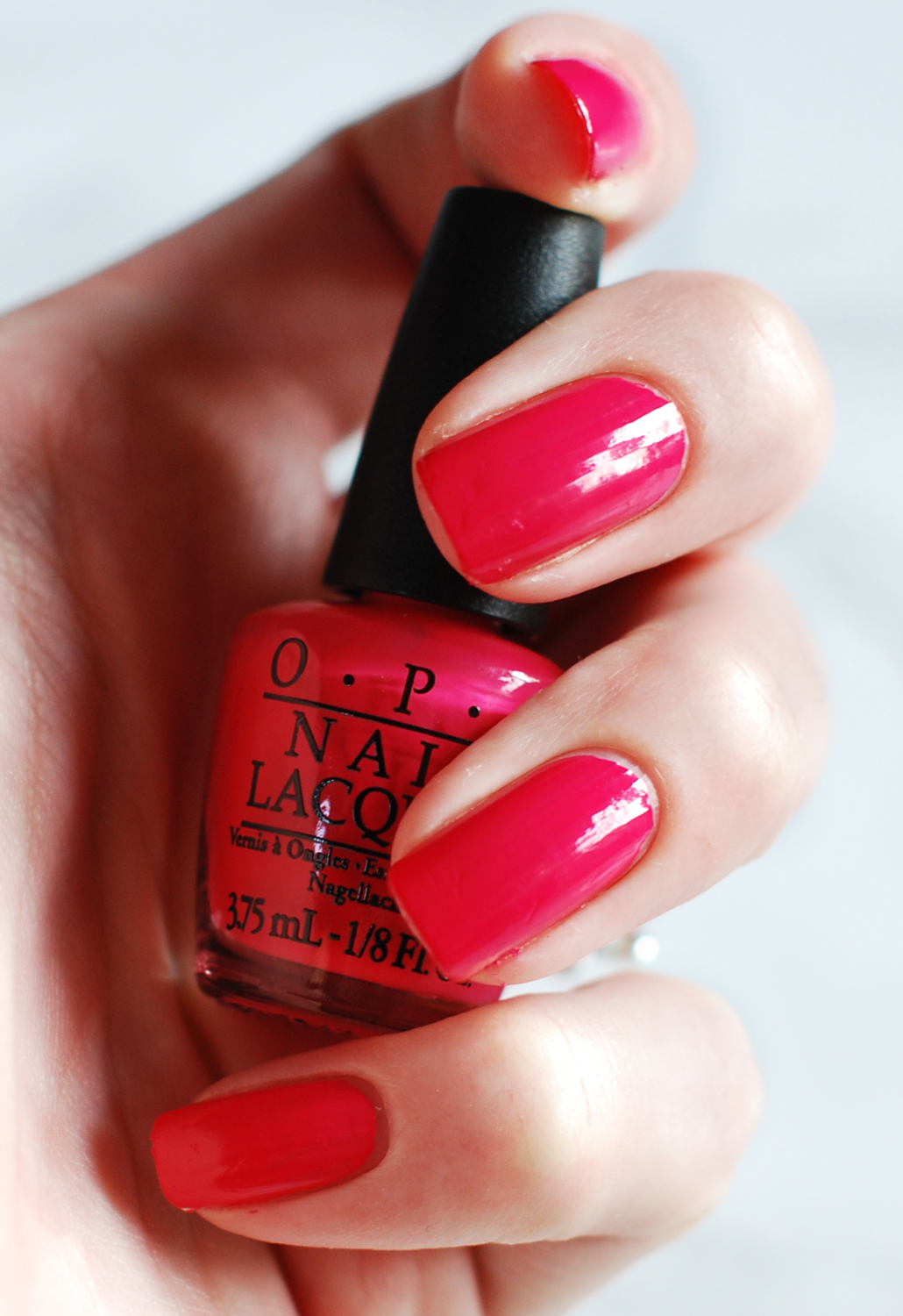 OPI Passport To Color Travel Exclusive review Charged Up Cherry