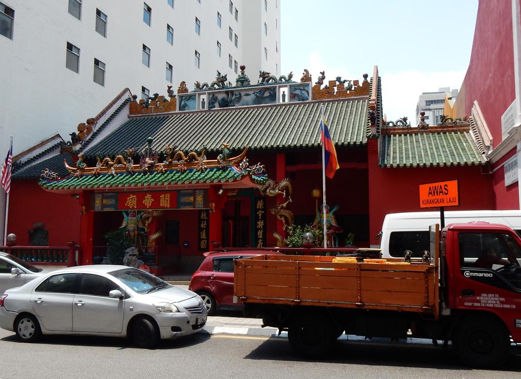 Kuala Lumpur city walk guandi temple kuala lumpur