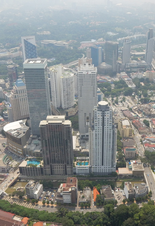 Menara KL Tower in Kuala Lumpur view panorama deck