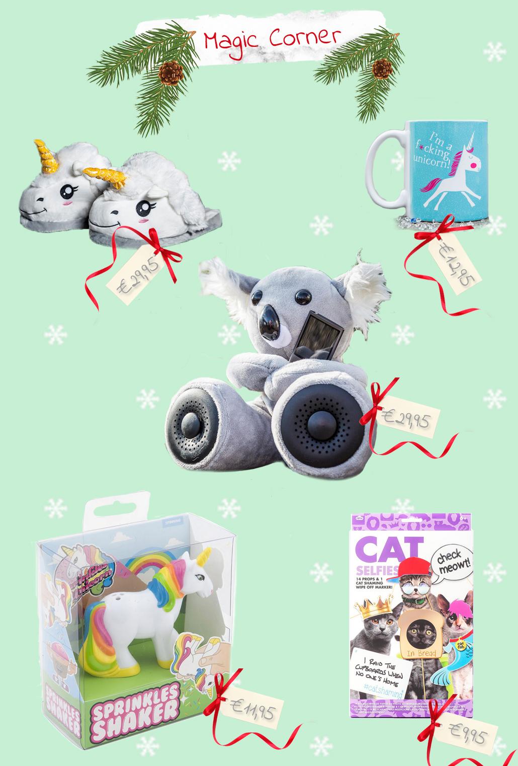 30 onder de 30 voor magic corner unicorn gift 30 onder de 30 €30,- euro voor haar cadeau kerst sinterklaas radbag