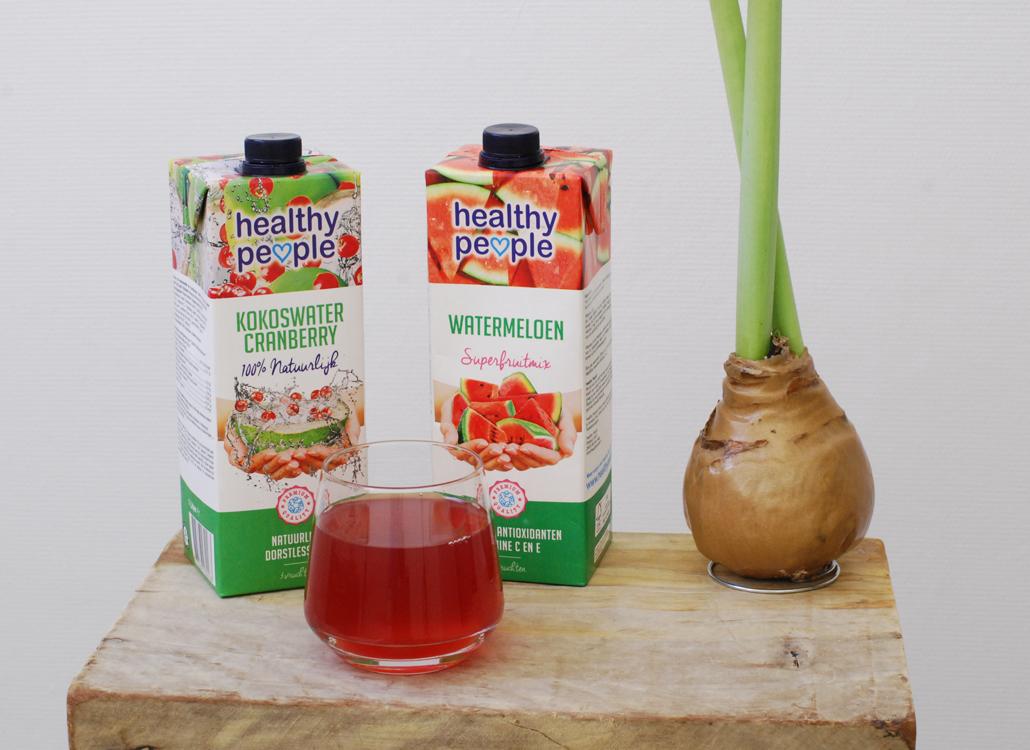 Healthy People kokoswater cranberry watermeloen superfruits nieuwe smaken gezond drinken dranken gezonde lifetsyle by linda