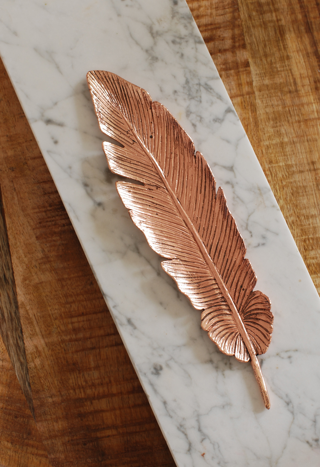 latest obsession rose gold feather