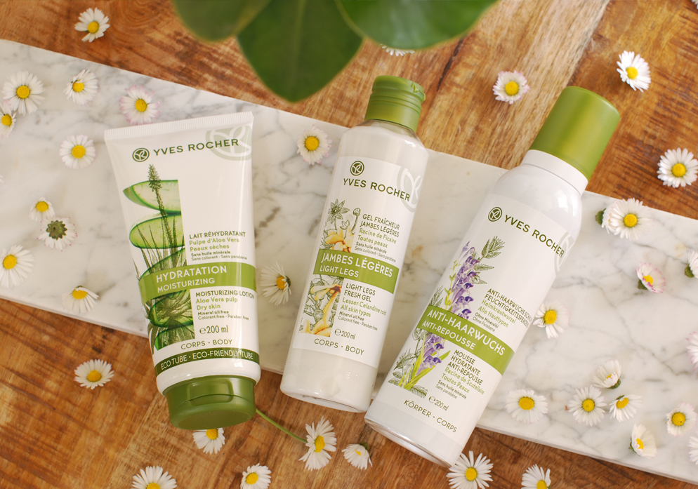 hydratatie plantaardige cosmetica zomerse benen met yves rocher lifestyle by linda