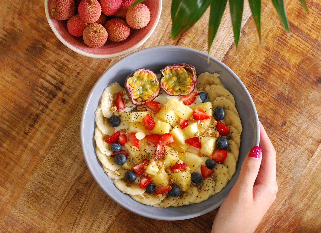 Tropical Breakfast Bowl Pineapple lifestyle by linda
