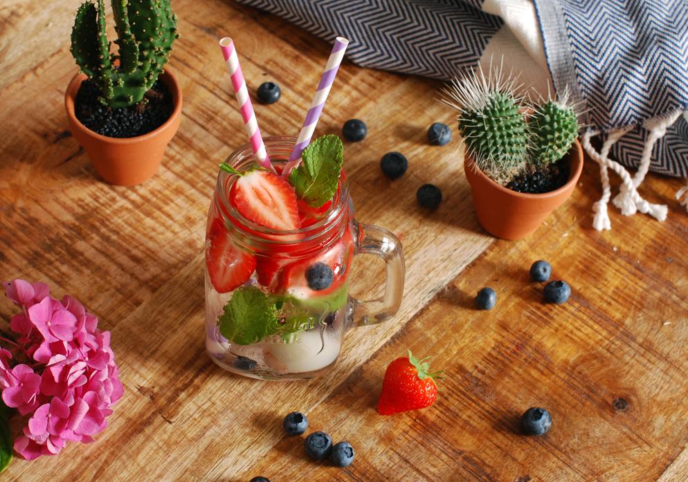 Lychee Munt Aardbei Water Recept detox lifestyle by linda food