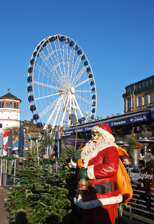 Kerstmarkt Düsseldorf Duitsland 2016 2017
