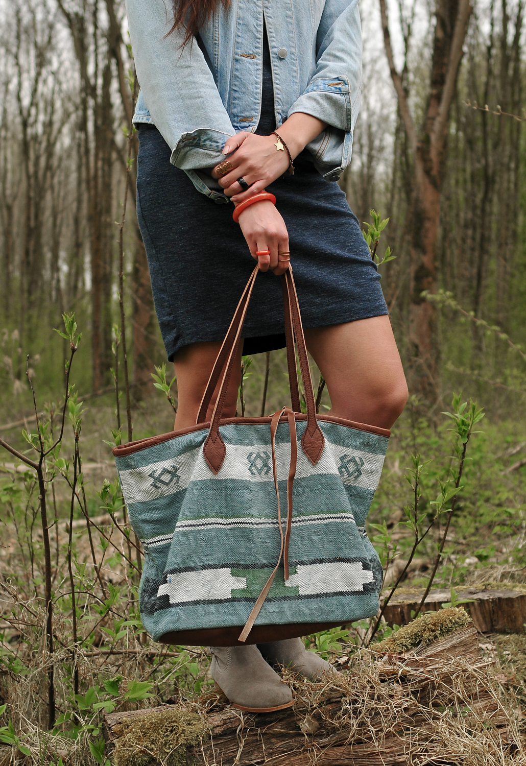 MaiQ All In One marble blue no. 2 bag