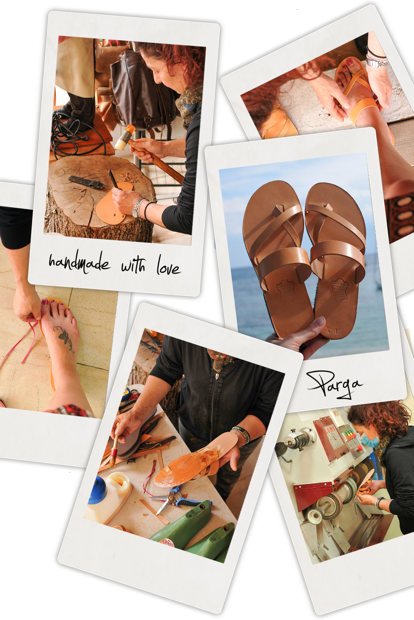 new leather sandals katerina parga