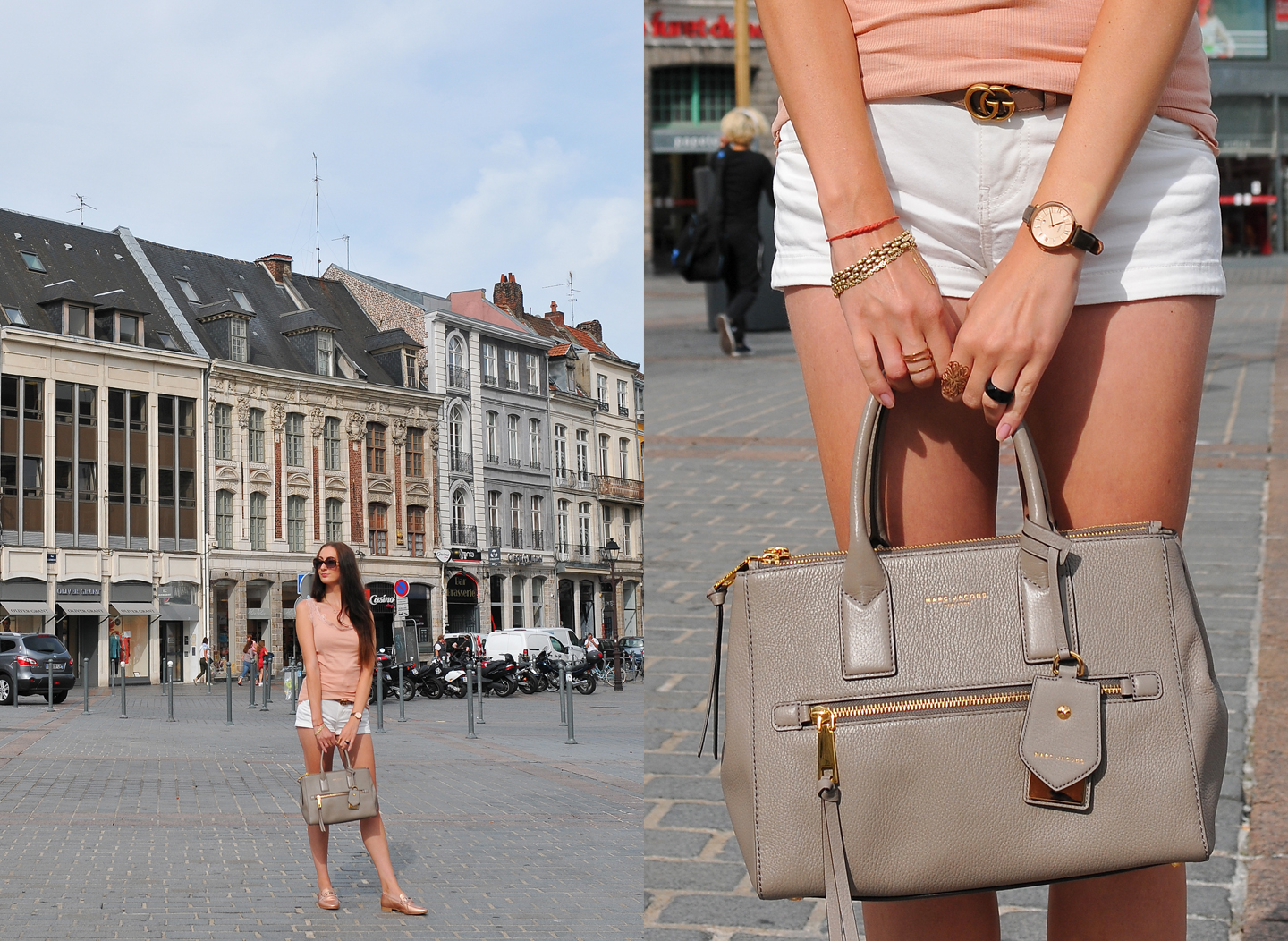 Lille Diaries Frankrijk Marc Jacobs Recruit East-West Tote Bag Gucci belt pink