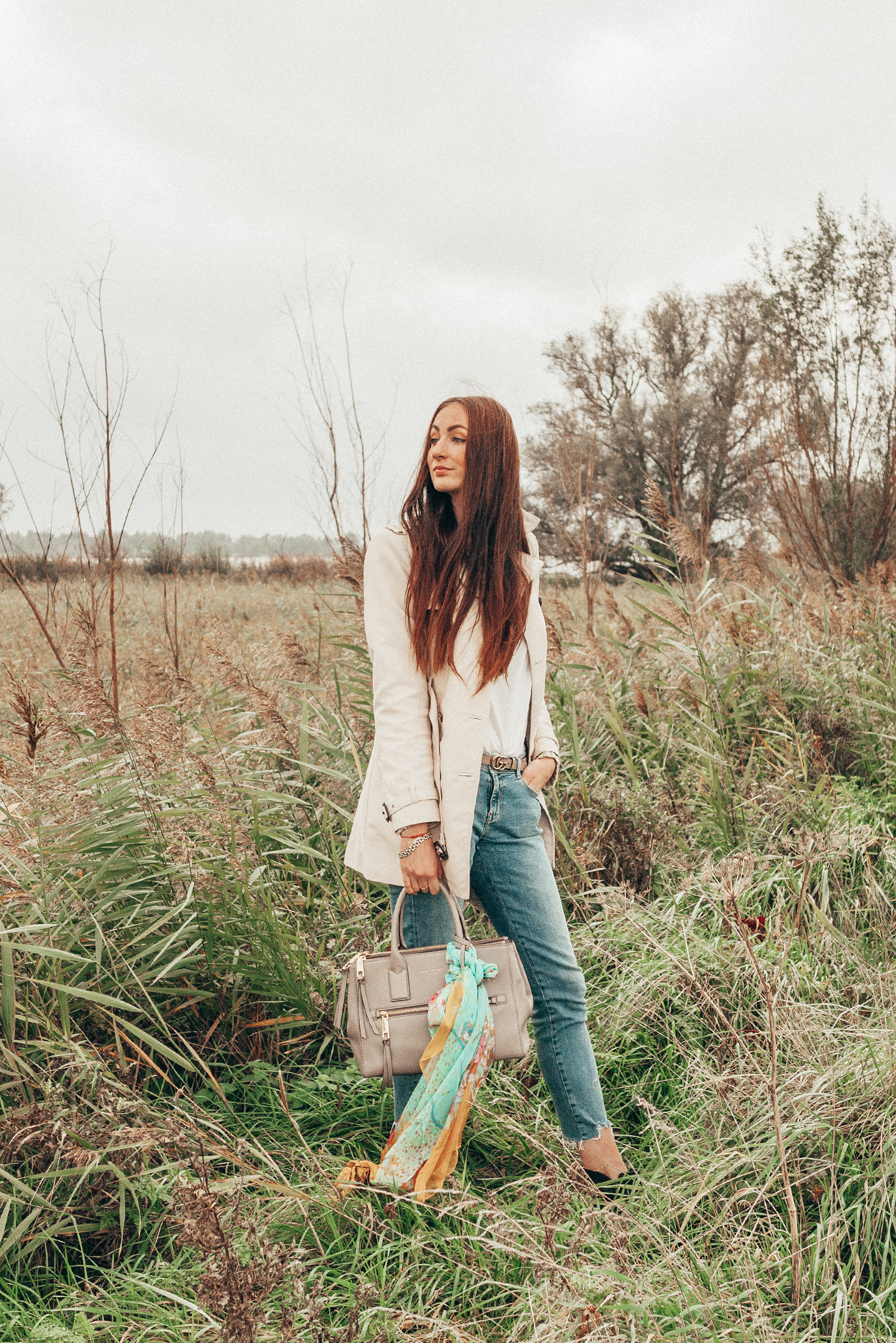 fall neutrals slow fashion outfit bohemian chic