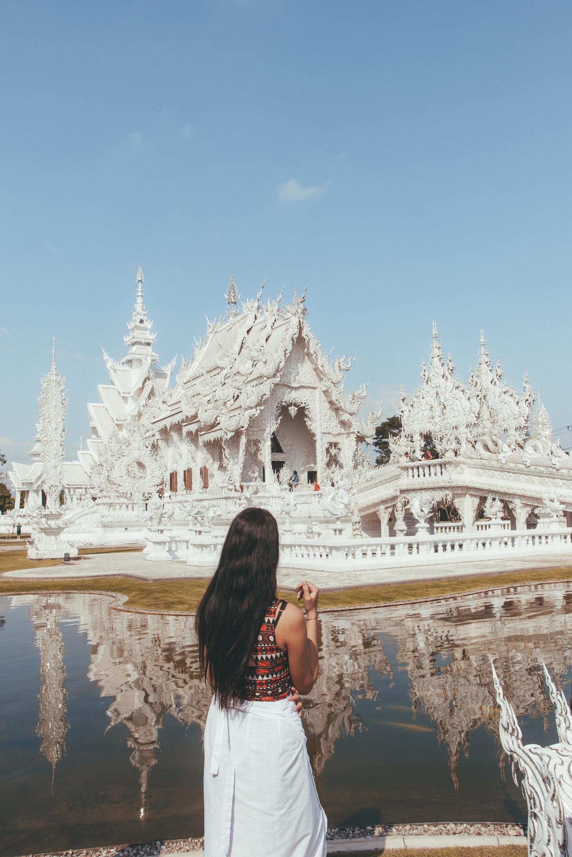 Chiang Rai Thailand Wat Rong Khun - Witte Tempel