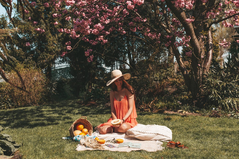 boho spring picnic