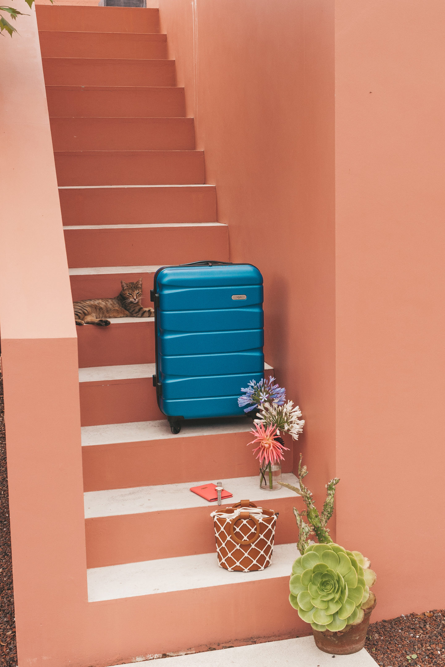 SININ koffer travel essentials Pink House Azores