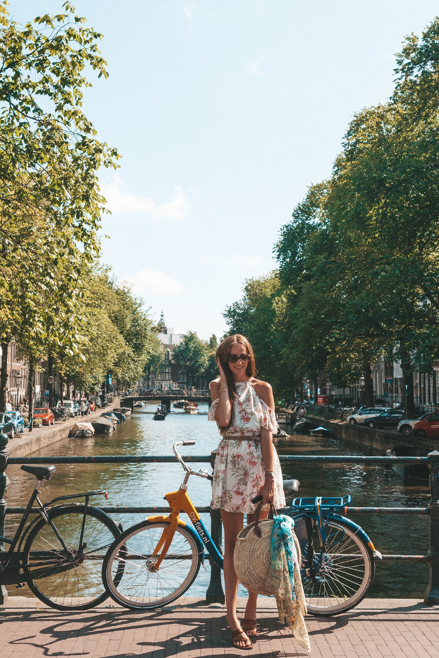 Amsterdam boho chique fashion shoot canals