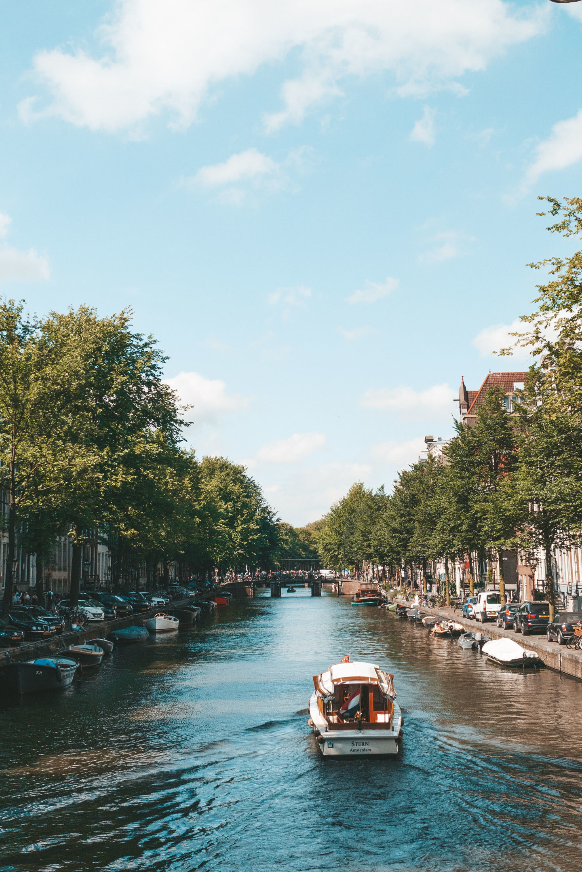 Amsterdam canals summer