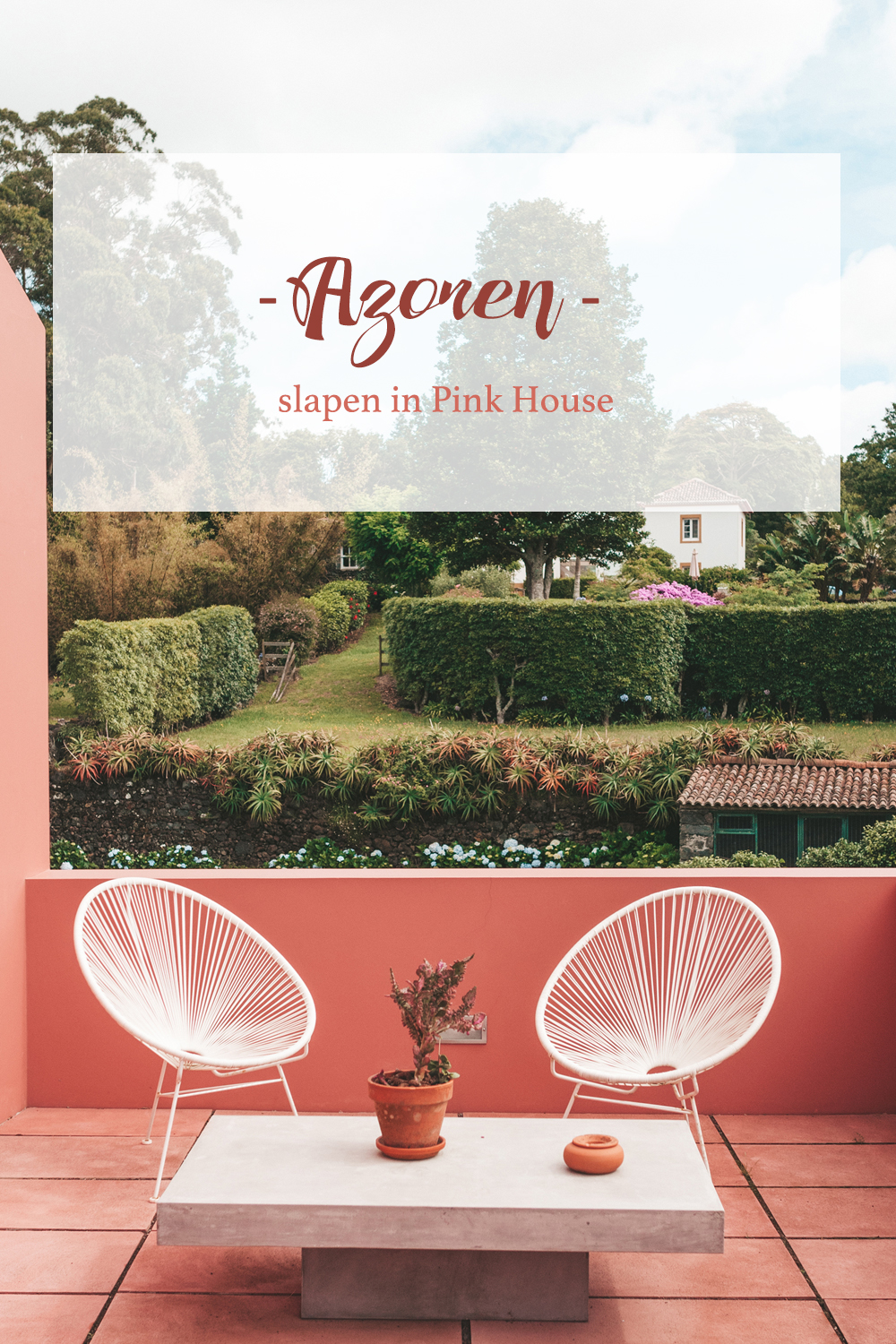 Pink House Azores accommodatie Ponta Delgada Linda's Wholesome Life