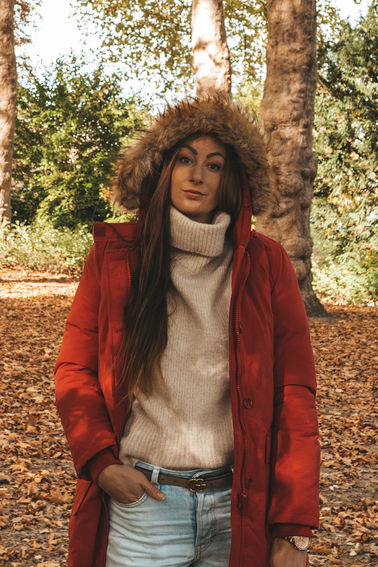 Style Italy winterjas herfst outfit Dubbelsteynpark