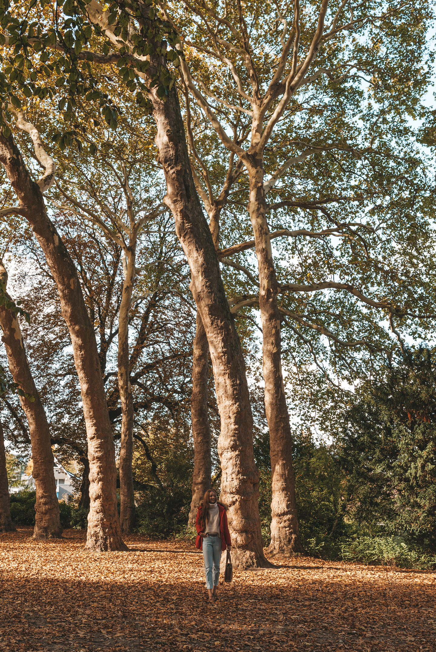Style Italy winterjas dubbelsteynpark herfst Dordrecht