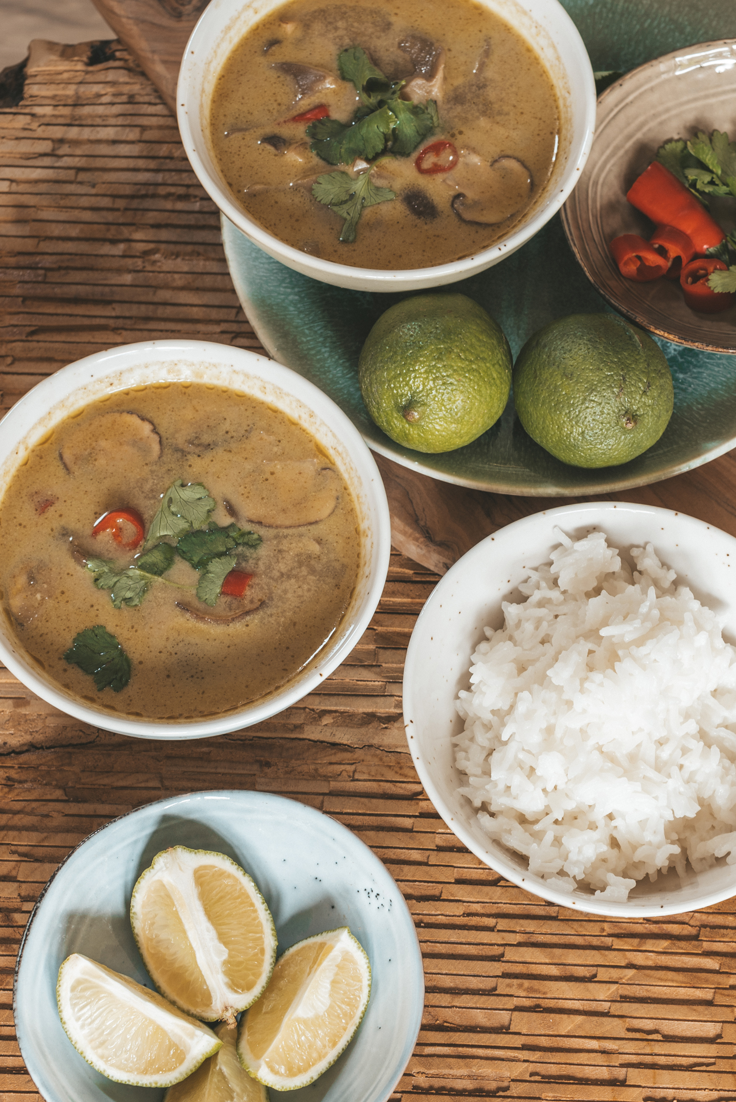 Thaise vegan curry- kokossoep