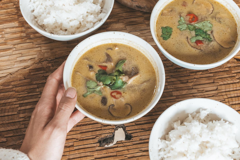 Thaise vegan curry- kokossoep