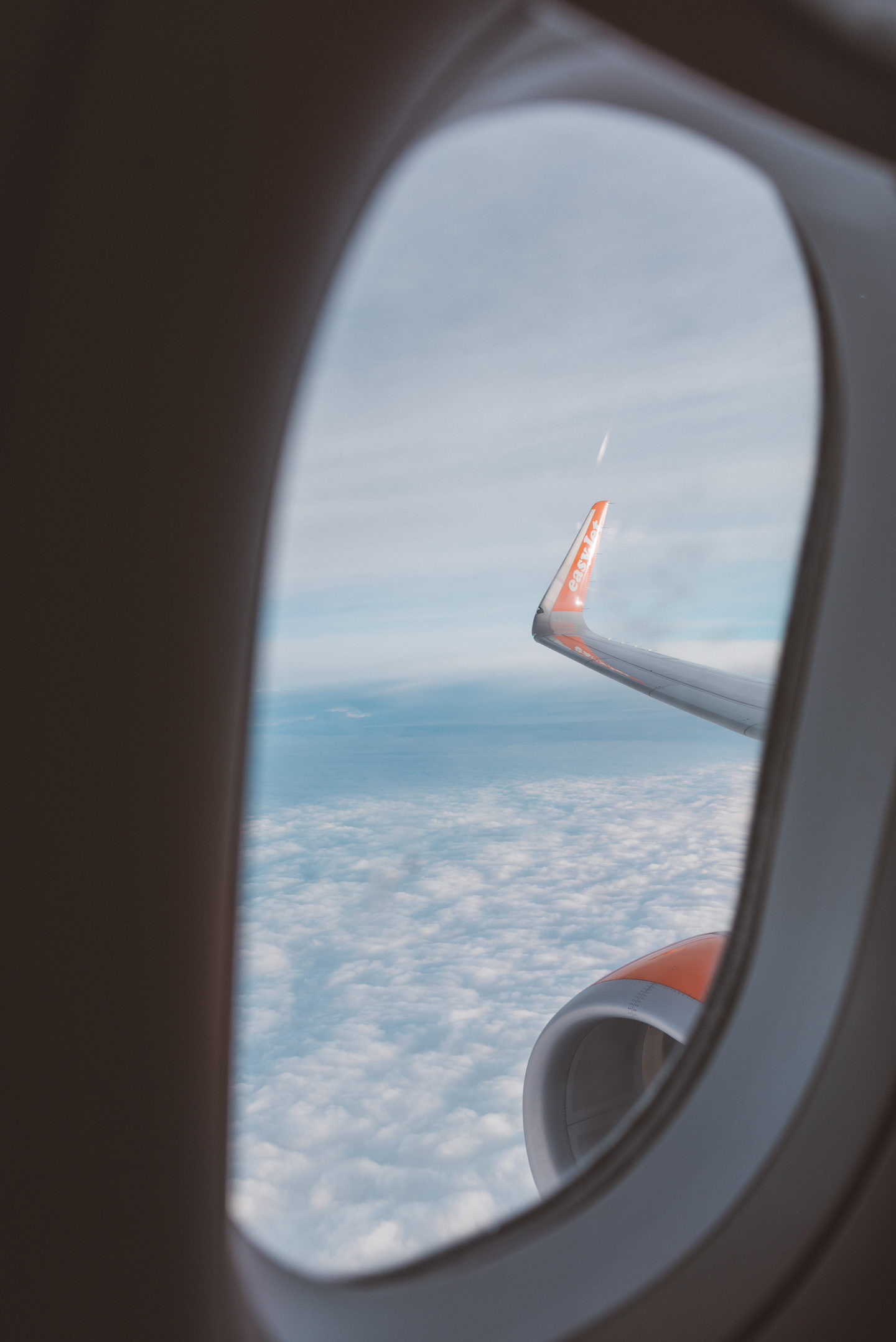 a life update linda's wholesome life EasyJet airplane view