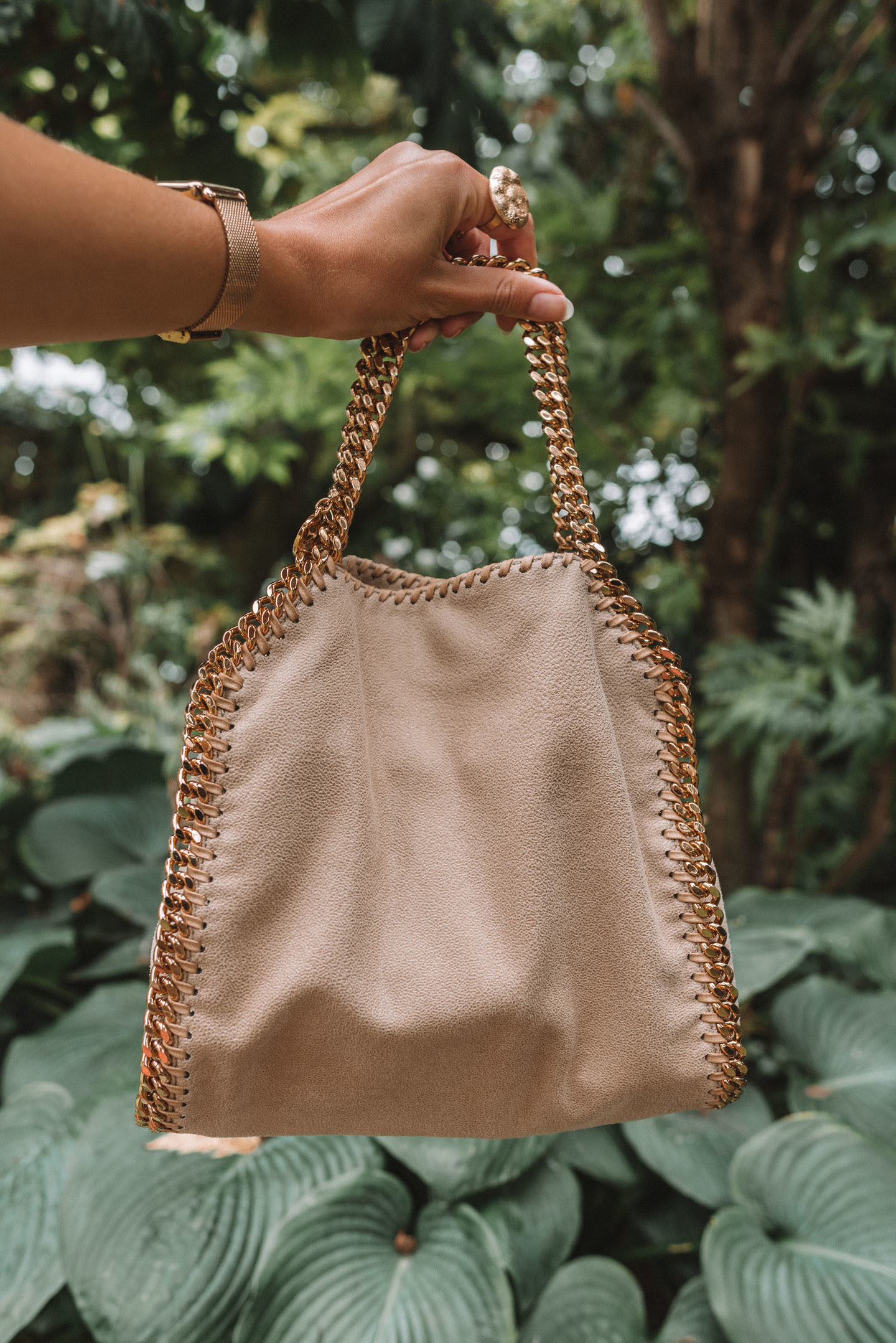 Wear and tear Falabella tote Stella McCartney
