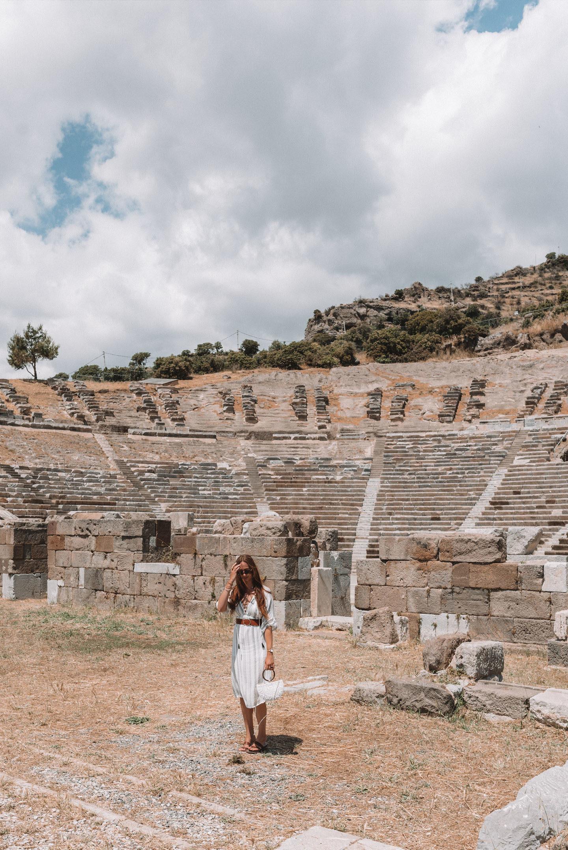 Amphitheater Bodrum Griekstheater op de Goktepe