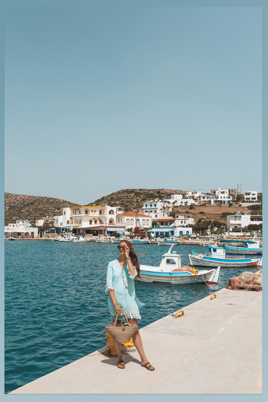 Lipsi harbor Griekenland