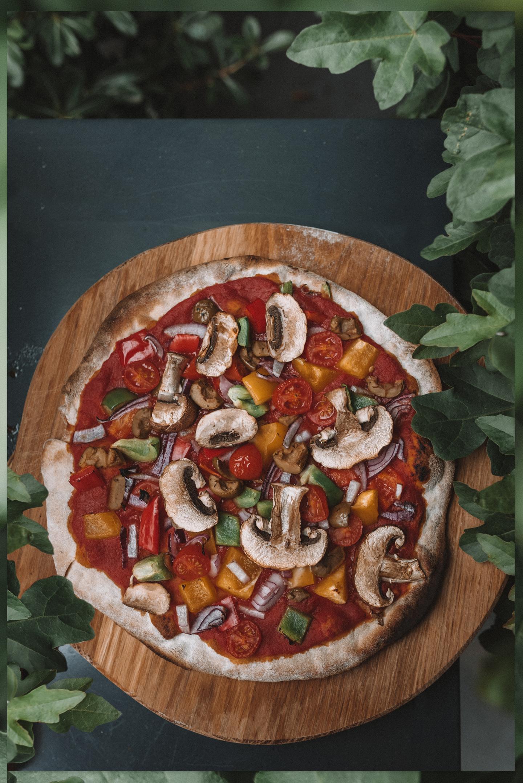 zelf pizza maken plantaardig vegan Linda's Wholesome Life
