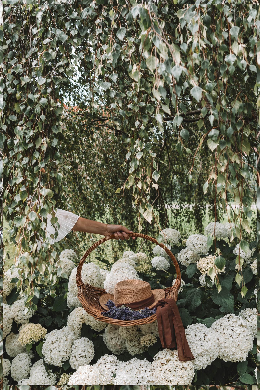 Lavendel annabelle bloemenmandje anLinda's Wholesome Garden