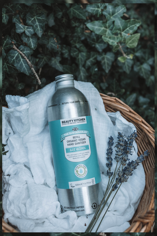 Organic Vegan Hand Sanitiser Beauty Kitchen refill